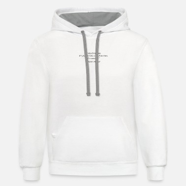 "Plagiarism ""Copy from one, it's plagiarism; copy from two, it - Contrast Hoodie"