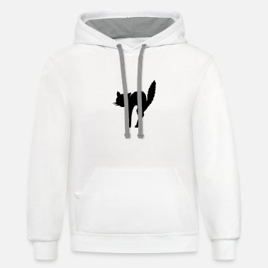 Cheap scared cat (cheap!) - Contrast Hoodie