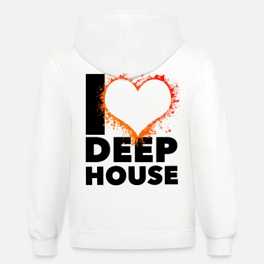 House Music I love deep House black - Contrast Hoodie