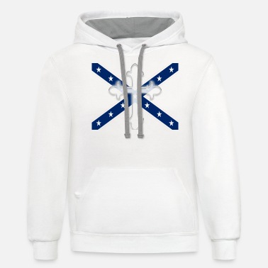 Confederate Stars and Bars Cross Confederate - Unisex Two-Tone Hoodie