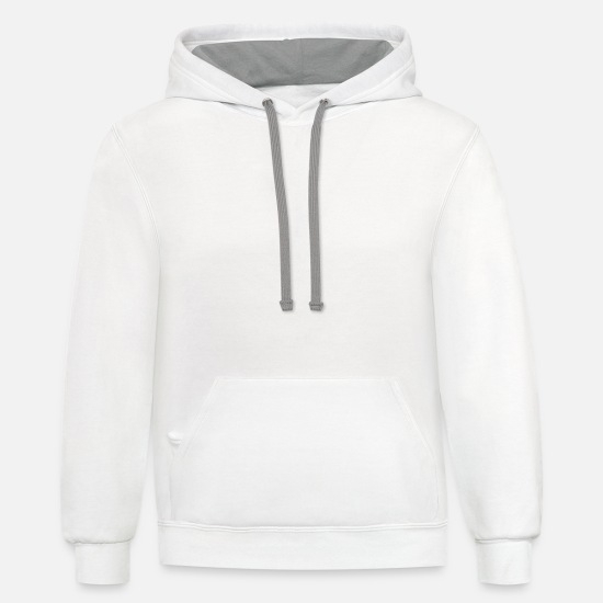 Geek Hoodies & Sweatshirts - Grillmaster - Unisex Two-Tone Hoodie white/gray