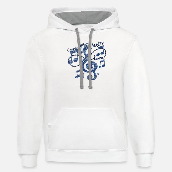 Choir Hoodies & Sweatshirts - Cooper High Choir - Unisex Two-Tone Hoodie white/gray