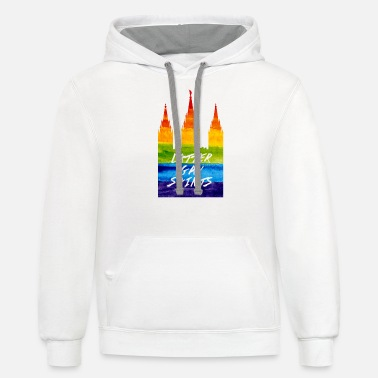 Mormon Mormon Temple in gay pride Latter gay saints - Unisex Two-Tone Hoodie