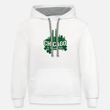 Chicago St. Patricks Day Chicago - Unisex Two-Tone Hoodie