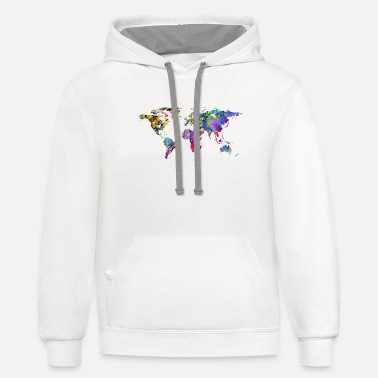 World World map - Contrast Hoodie