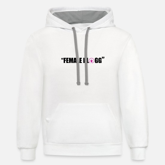 Female Hero Hoodies & Sweatshirts - KITA BOO FEMALE PLUGG - Unisex Two-Tone Hoodie white/gray