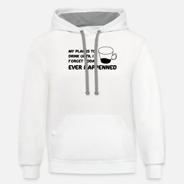Humour My plan Humour - Unisex Two-Tone Hoodie