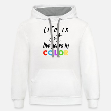 Color Color - Unisex Two-Tone Hoodie
