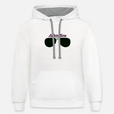 Attractive Sunglass Attraction - Unisex Two-Tone Hoodie