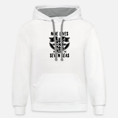 Boating Nine Lives in Seven Seas Pirat Cat - Unisex Two-Tone Hoodie