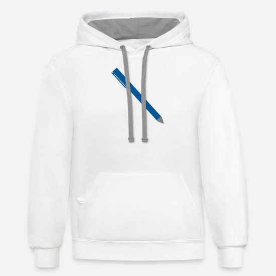 Pin Hoodies & Sweatshirts - Pen - Unisex Two-Tone Hoodie white/gray