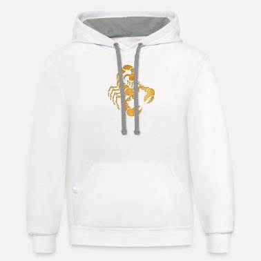 Stinger Funny Scorpion - Pinchers - Tail Stinger - Poison - Unisex Two-Tone Hoodie