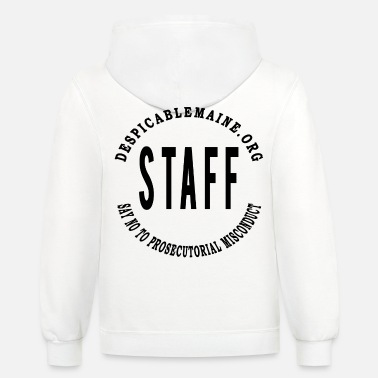 Say NO to Prosecutorial Misconduct BLACK - Unisex Two-Tone Hoodie