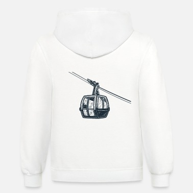 Lift Elevator Retro Vintage Ski lift elevator in ski resort - Unisex Two-Tone Hoodie