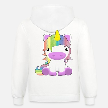 Fine cute little unicorn gift for the daughter - Unisex Two-Tone Hoodie
