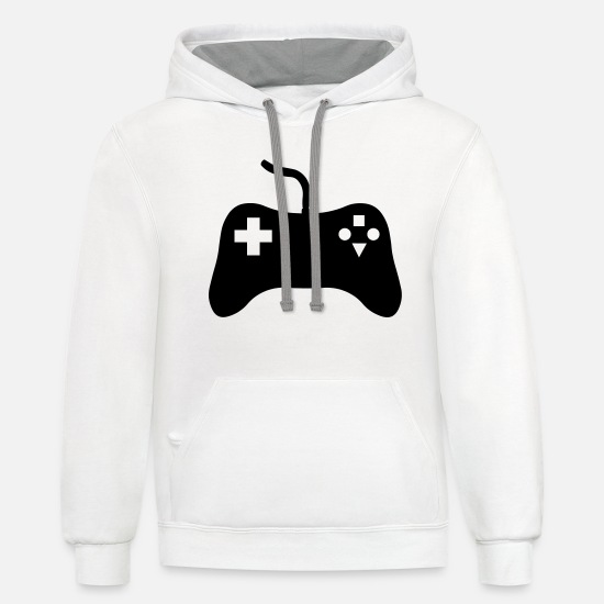 Game Hoodies & Sweatshirts - Gaming Console - Unisex Two-Tone Hoodie white/gray