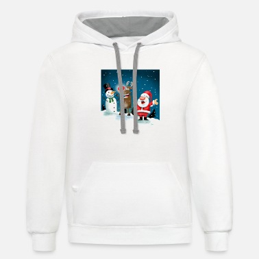 Lighting Red Noses - Unisex Two-Tone Hoodie