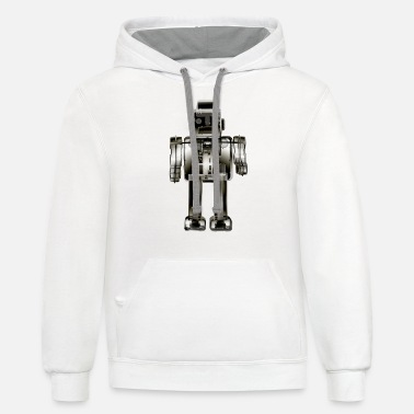 3N2O toy robot x-ray bw - Unisex Two-Tone Hoodie