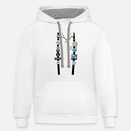 Space Hoodies & Sweatshirts - Office Space - Joanna's Flair - Unisex Two-Tone Hoodie white/gray