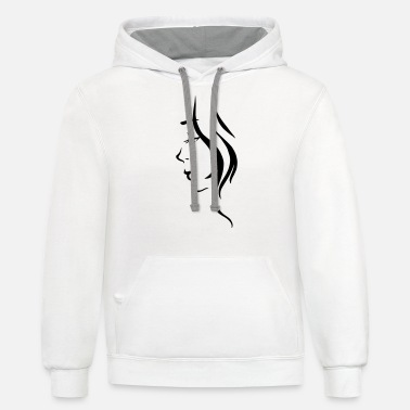 Girl Illustration - Unisex Two-Tone Hoodie