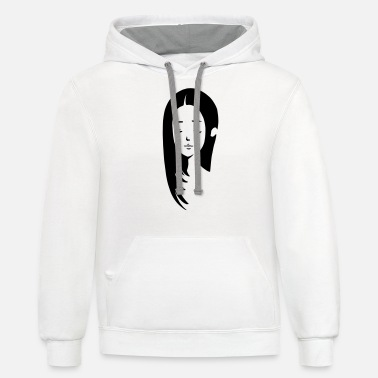 Girl with long hair - Unisex Two-Tone Hoodie