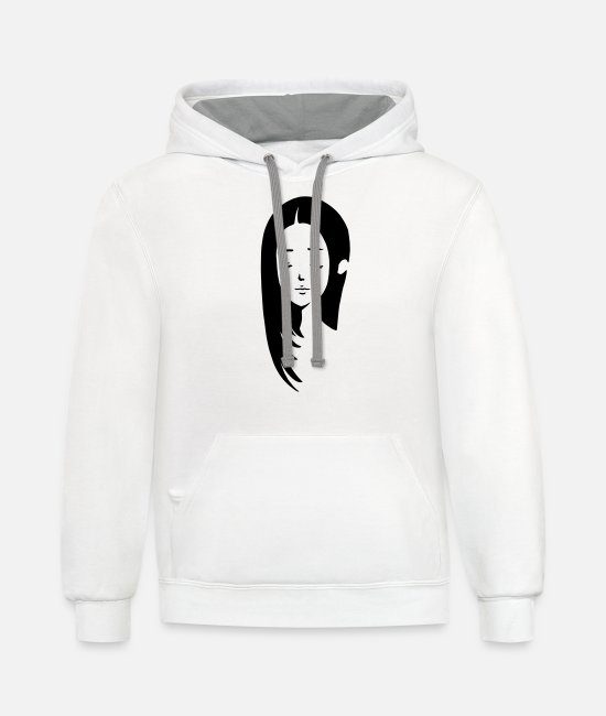 Natural Beauty Hoodies & Sweatshirts - Girl with long hair - Unisex Two-Tone Hoodie white/gray