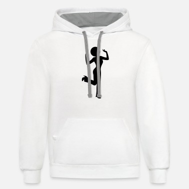 Woman Retro (1c)++ - Unisex Two-Tone Hoodie