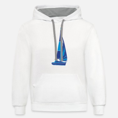 Sailboat sailboat - Unisex Two-Tone Hoodie