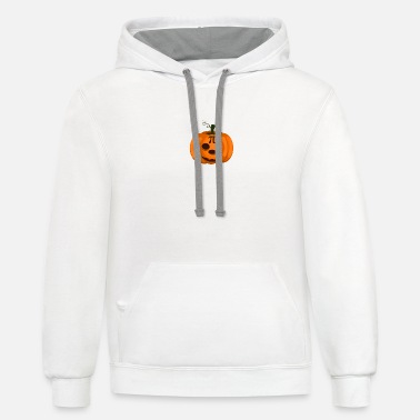 Halloween Pumpkin Pi Jackolantern Thanksgiving Pie - Unisex Two-Tone Hoodie