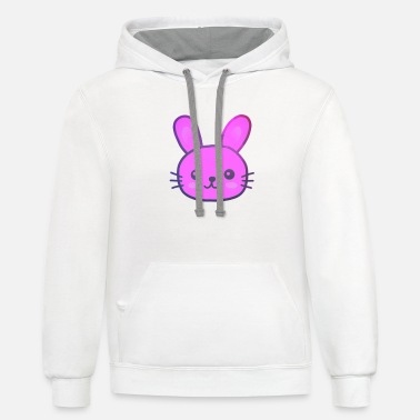 Easter Bunny Colorful bunny Easter Bunny for easter Bunny - Unisex Two-Tone Hoodie