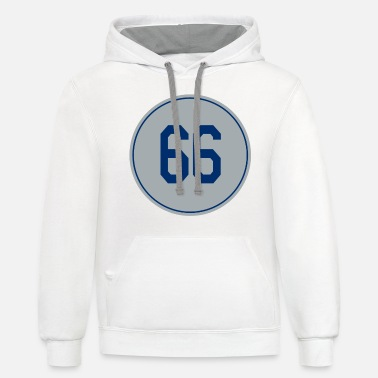 Jersey Number Yasiel Puig Number 66 Jersey Los Angeles baseball - Unisex Two-Tone Hoodie