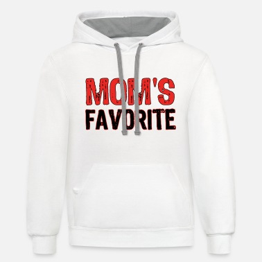Mom's Favorite MOMS FAVORITE - Unisex Two-Tone Hoodie