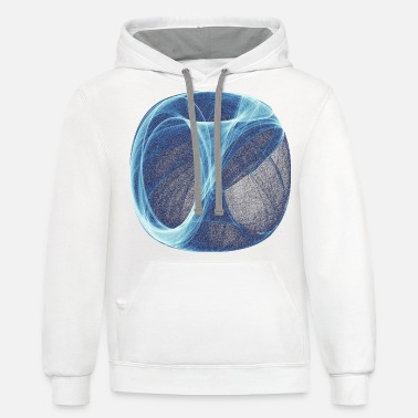 Electronics blue-white flow of ice and fog 12493ice - Unisex Two-Tone Hoodie