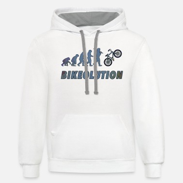 Giftidea For Cyclists Bikeolution Evolution for bike rider and sports - Unisex Two-Tone Hoodie
