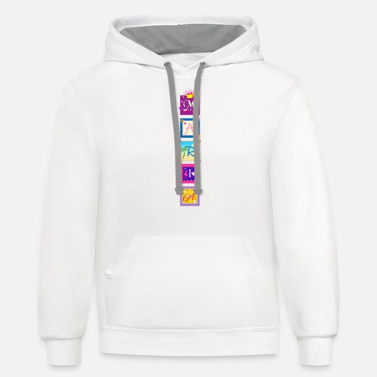 Maria Hoodies & Sweatshirts - Maria Name - Unisex Two-Tone Hoodie white/gray