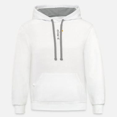 Stick stick figure drinking-a-toast - Unisex Two-Tone Hoodie