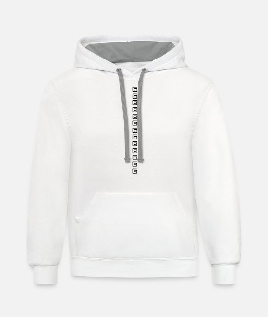 Transverse Hoodies & Sweatshirts - Square spiral pattern - Unisex Two-Tone Hoodie white/gray