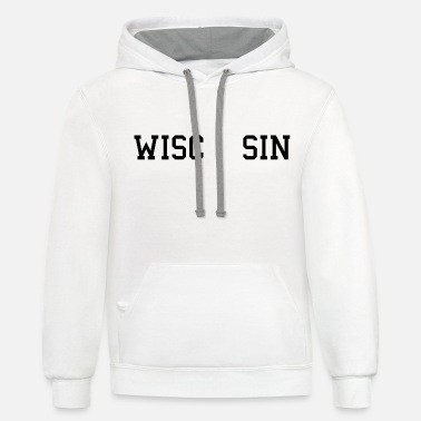 Wisconsin Funny WiscONsin - Unisex Two-Tone Hoodie