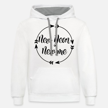 New Year New year new me - Unisex Two-Tone Hoodie