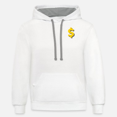 Hot Boys Dollar Sign logo yellow - Unisex Two-Tone Hoodie
