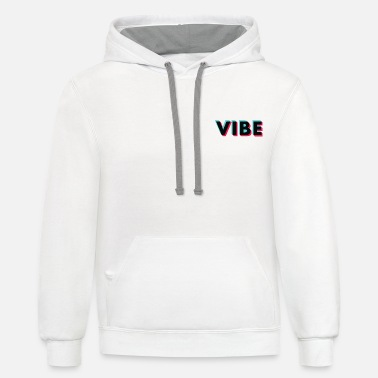 Graffiti Vibe Glitch Black Small Logo - Unisex Two-Tone Hoodie