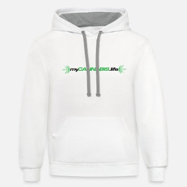 myCANNABIS.life Black Text - Unisex Two-Tone Hoodie