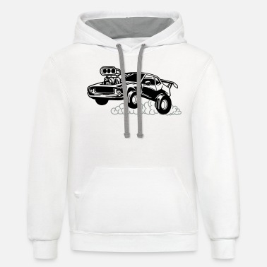 Sportscar Car,Renner,Sportscar,Vehicle,V8 ✔ - Unisex Two-Tone Hoodie