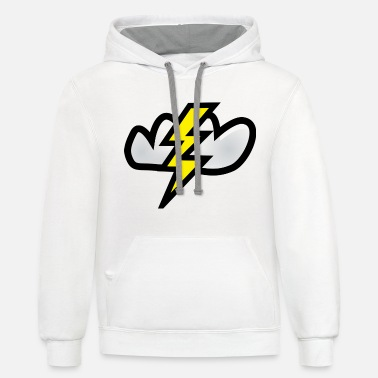 Relâmpago Lightning bolt T-Shirt - Unisex Two-Tone Hoodie