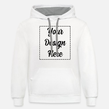 Custom Your Design Here - Unisex Two-Tone Hoodie