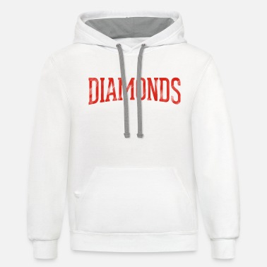 Front Back Red Diamonds - Unisex Two-Tone Hoodie