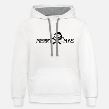 Laugh merry xmas skull - Unisex Two-Tone Hoodie