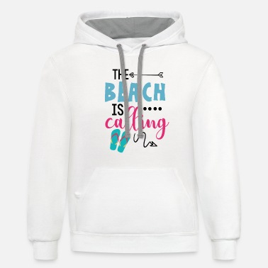 Beach The beach is calling... - Unisex Two-Tone Hoodie