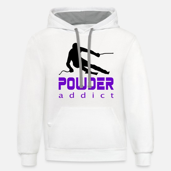 Ski Holidays Hoodies & Sweatshirts - Ski Holidays Winter Sports - Unisex Two-Tone Hoodie white/gray