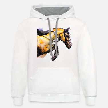 Show Jumping horse show jumping - Unisex Two-Tone Hoodie